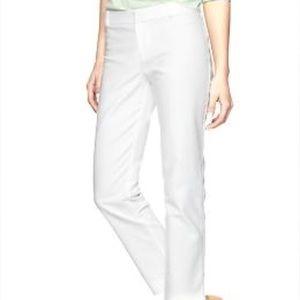 GAP Slim Cropped White Pants (6)